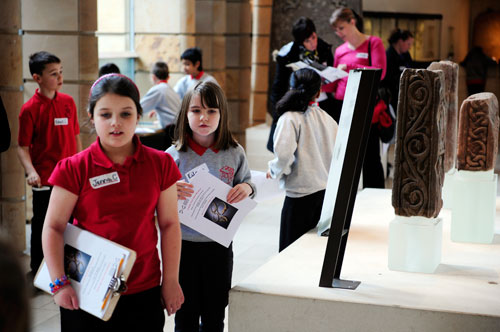Pupils visiting the National Museum of Scotland