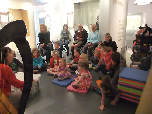 Listening to Animal Tales in the Treasured gallery