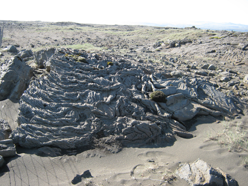 An example of ropy lava