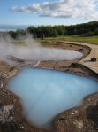Hot spring pools at Geysir
