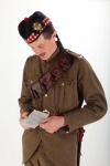 Soldier reading document