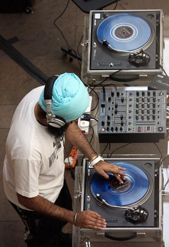 The Tigerstyle DJ rocks the museum Bhangra style.
