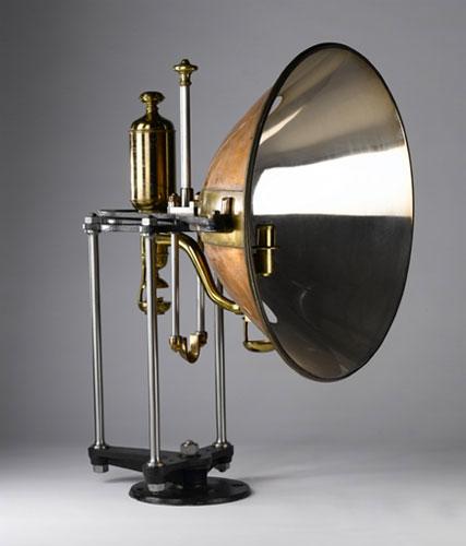 Parabolic reflector designed by Robert Stevenson