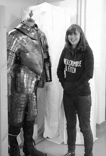 Catriona comes face to face with a suit of armour in the National Museums Collection Centre