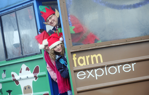 Farm Explorer rides at the Christmas Fair and Foal show.