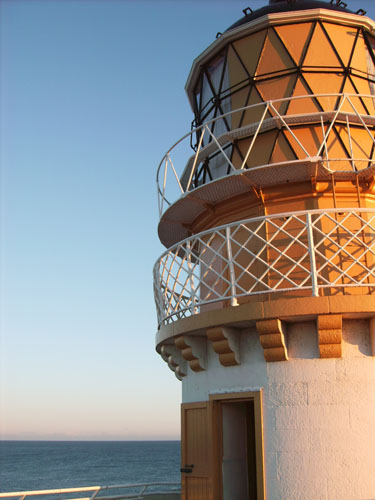 Kinnaird Head lighthouse at sunset. Photo by Best DSC.