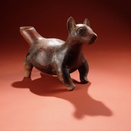 Aztec pottery dog