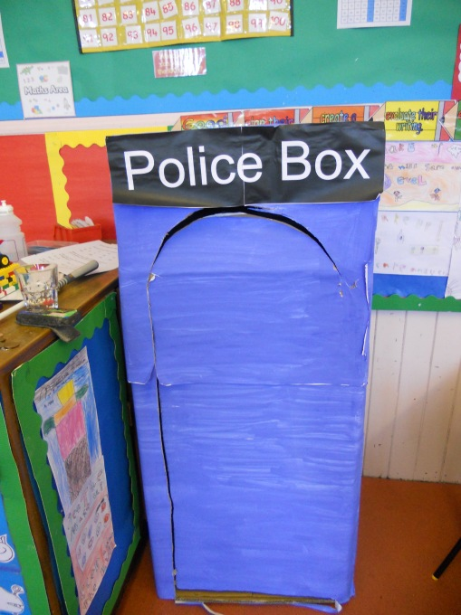 Time Traveller made by Primary 3 class, Haddington Infants School