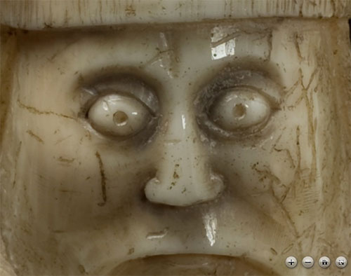 Seadragon technology allows you to zoom and see the Lewis Chessmen in great detail
