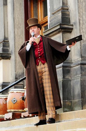 Grant Stott in Victorian garb