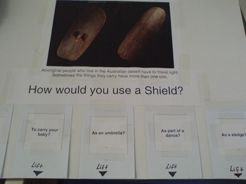 Paper prototype for How would you use a shield?