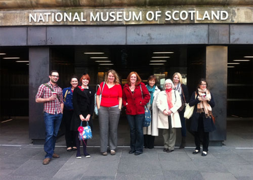 Representatives from member museums of the Fife Museums Forum