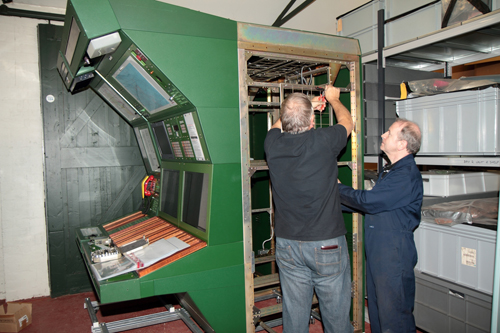 Air Traffic Contro unit being installed at National Museum of Flight