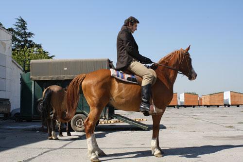 Sean O'Callaghan on horseback