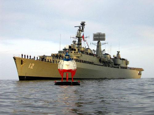 The former Chilean naval destroyer, Almirante Cochrane.