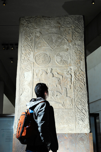 The Hilton of Cadboll stone, one of the 26 Treasures, in the Early People gallery
