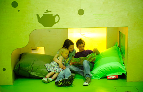 Reading together in Story Corner