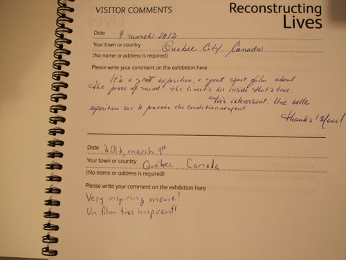 Reconstructing Lives visitor comments