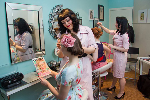 1940s vintage makeover at Miss Dixie Belle of Brunstfield