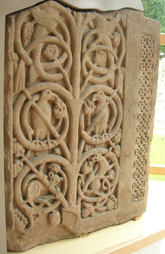 Carved slab found in Jedburgh, in the Scottish Borders