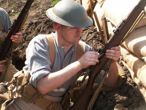 First World War Gordon Highlander in the trenches