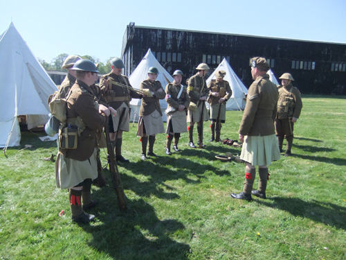 First World War Gordon Highlanders' camp