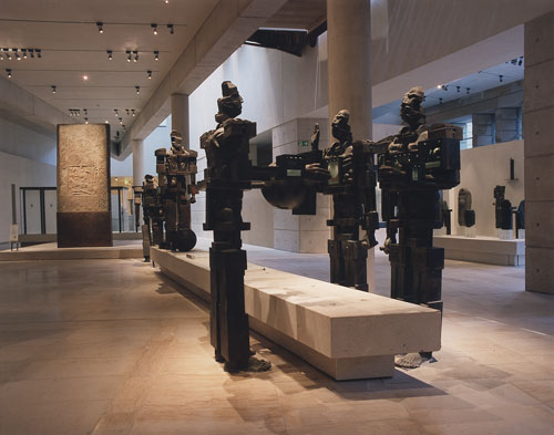 Paolozzi sculptures leading into the Early People