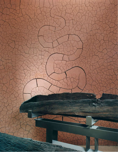 Clay wall by Andy Goldsworthy