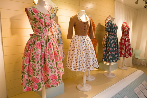 Horrockses dresses in the Off the Peg exhibition at National Museum of Costume