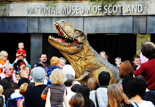 Tyrone the T.rex at National Museum of Scotland