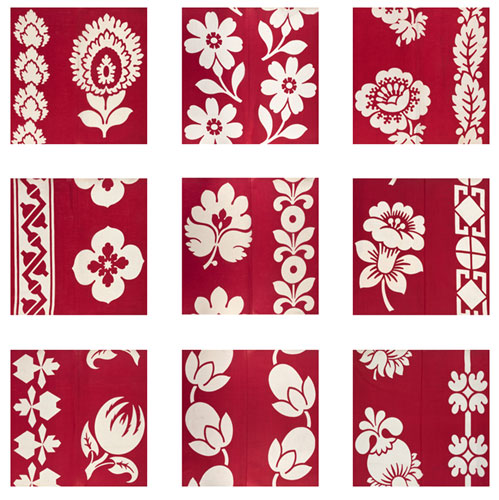 Turkey red patterns