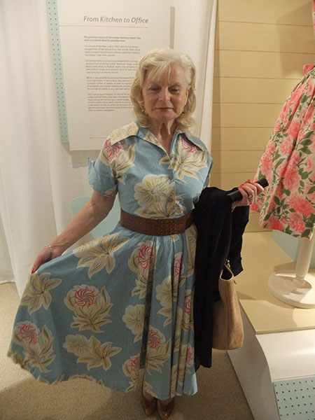 This visitor wore an original Horrockses frock