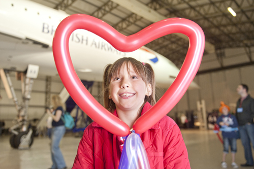 Having fun in the Concorde Hangar at the Airshow at National Museum of Flight, East Fortune on Sat 28 July 2012