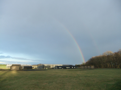 Rainbow over National Museum of Flight, East Fortune