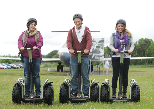 Having a go on the Segways at Robots Live! at National Museum of Flight, East Fortune on Sunday 17 June 2012