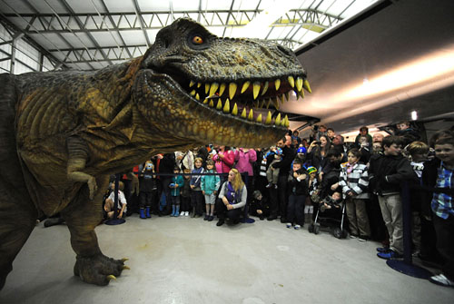 Tyrone the animatronic T.rex at Robots Live! at National Museum of Flight, East Fortune on Sunday 17 June 2012
