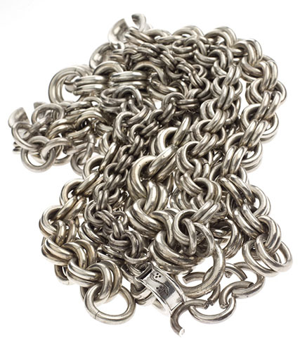 Massive silver chains