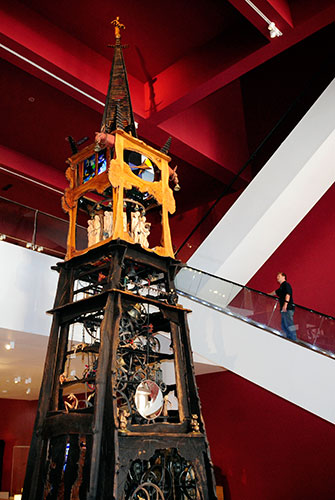 The Millennium Clock in the Discoveries gallery at National Museum of Scotland