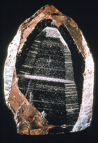 Quartz ghost mineral from National Museums Scotland geology collection