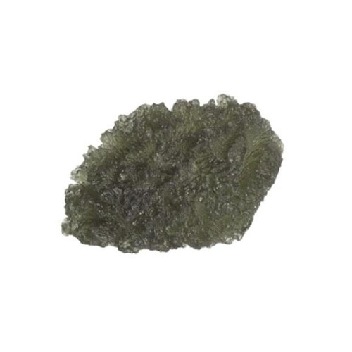 Moldavite (tektite), glassy translucent green with rough crispy surface, from Czechoslovakia