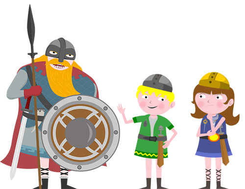 The characters from Vikings! Training School