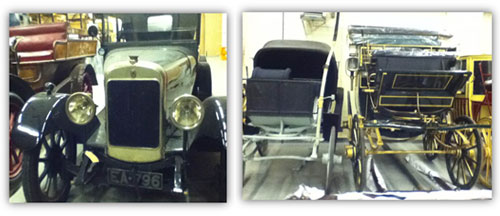 Cars and carriages in the National Museums Collection Centre