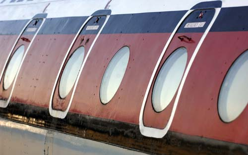 Windows on the Comet 4c at National Museum of Flight, East Fortune
