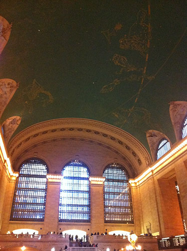 The ceiling at Grand Central Station