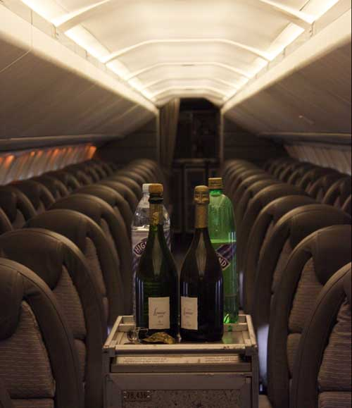 Serving champage aboard Concorde G-BOAA, National Museum of Flight, East Fortune © Jenni Sophia Fuchs