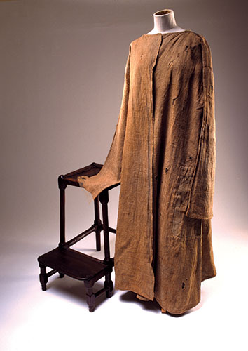 The gown of repentance, on display in the Scotland Transformed gallery