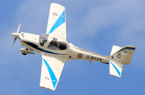 The Grob 115E, known by the RAF as the Tutor will form part of the air display at the Airshow, National Museum of Flight, East Fortune on Saturday 27 July 2013.