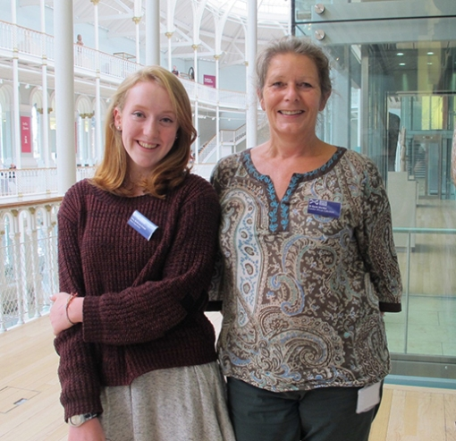 Kitty with Dr Sarah Worden, Curator of African Collections