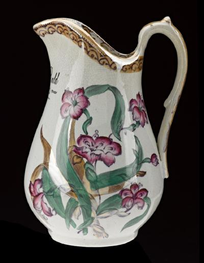 Clyde pottery jug, also on loan to the McLean Museum and Art Gallery for Scotland Creates: A Sense of Place