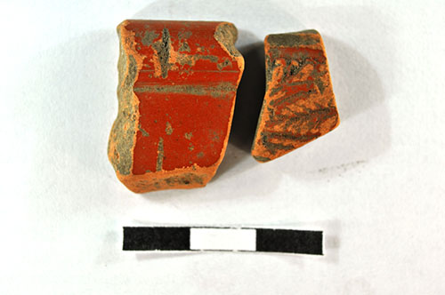 Another find: two sherds of Roman pottery.